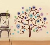 WallStickerUSA Tree FLower Fireworks Colorfull Wall Sticker Decal for Baby Nursery Kids Room