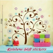 Rainbow Wall-stickers Wall Decor Removable Decal Sticker - Colourful Tree