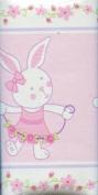 Wamsutta Baby Ballet Bunnies Nursery Wall Border