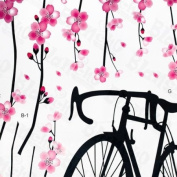 Bike & Flowers 2 - X-Large Wall Decals Stickers Appliques Home Decor
