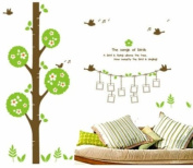 Large Song of Birds Tree Birds Singing Hang Your Picture Wall Sticker Decal for Kids Room Living Room