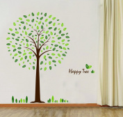 Happy Tree Wall Sticker Decal Ideal for Kids Room Baby Nursery Living Room