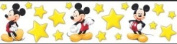 Blue Mountain Wallcoverings DF059291BFP Oh Boy! Mickey Mouse White Prepasted Wall Border