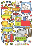 Children's Nursery Room Wall Decal - Baby Circus