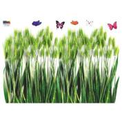 Reusable Decoration Wall Sticker Decal - Barley and Butterflies