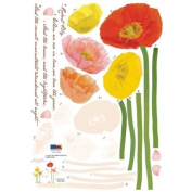 Reusable Decoration Wall Sticker Decal - ECO Poppy Garden