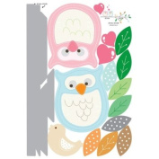 Reusable Decoration Wall Sticker Decal - Owl Love Couple Branch Mod