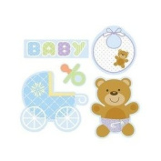 Teddy Baby Blue Cutouts