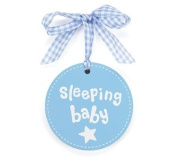 "Blue ""Sleeping Baby"" Wall Plaque It's a Good Life Wood"