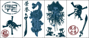 Blue Mountain Wallcoverings GAPP1817 Pirates Room Self-Stick Room Appliqués