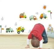 Cute Cars Trucks Wall Sticker Decal for Baby Nursery Kids Room