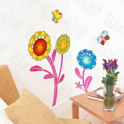 [Floral Cartoon] Decorative Wall Stickers Appliques Decals Wall Decor Home Decor