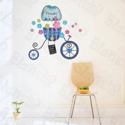 [Romantic Bike] Decorative Wall Stickers Appliques Decals Wall Decor Home Decor