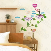 [Floral Wedding] Decorative Wall Stickers Appliques Decals Wall Decor Home Decor