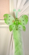 Nylon Butterfly Curtain Tieback - Green Emily
