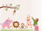LiViTech(TM) Stick & Peel Wall/Window Sticker Decor Animal Print