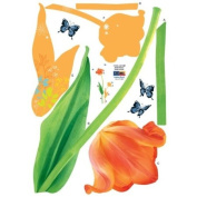 Reusable Decoration Wall Sticker Decal - ECO Tulip Flowers
