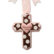Enesco Grow in Grace Chocolate Dots Pink Wall Hanging, 14cm