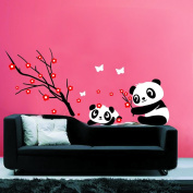 Pandas Playing - Wall Decals -Wall Sticker Wall Decal