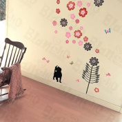 [Floral Singing] Decorative Wall Stickers Appliques Decals Wall Decor Home Decor