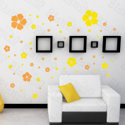 [Floral Excitment] Decorative Wall Stickers Appliques Decals Wall Decor Home Decor