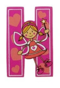 Self Adhesive Wooden Fairy Letter H by The Toy Workshop