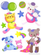 Vinyl Teddy Bears Kids Room Wall Mural Sticker Decal