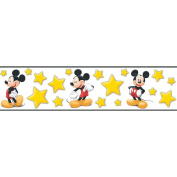 Imperial Disney Home DF059291B Mickey Stars Border, Yellow, 13.3cm Wide