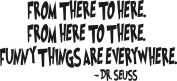 Dr. Seuss - FROM THERE TO HERE. FROM HERE TO THERE - wall art quote nursery baby saying