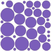 34 LAVENDER POLKA DOTS...WALL STICKERS ART DECALS DECOR