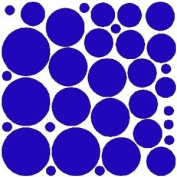 34 VIBRANT BLUE POLKA DOTS...WALL STICKERS DECALS ART DECOR
