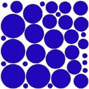 34 VIBRANT BLUE POLKA DOTS...WALL STICKERS DECALS ART DECOR