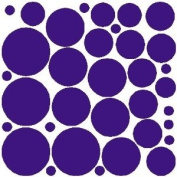 34 PURPLE POLKA DOTS..WALL STICKERS DECALS ART DECOR