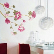 Holiday Decoration Wall Decor Removable Decal Sticker -Cherry Blossom Branch