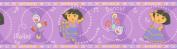 Brewster 147B00982 Nickelodeon Dora Dancing Wall Border, Purple