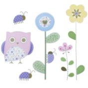 Circo Floral Owl Wall Decals