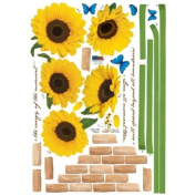Reusable Decoration Wall Sticker Decal - ECO Morning Sunflowers