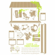 Reusable Decoration Wall Sticker Decal - Mini Garden