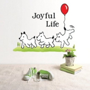 Wall Decor Removable Decal Sticker - Lovely Dogs