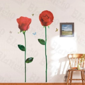 [Shining Roses] Decorative Wall Stickers Appliques Decals Wall Decor Home Decor