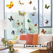 Wall Decor Removable Decal Sticker - Flying Butterflies