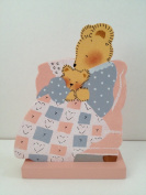 Baby Bear and Mamma Bear Snuggling-Hand Crafted All Wood-Self Standing Decor