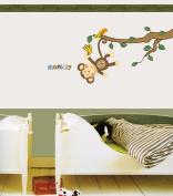 Jiniy MONKEY Kids Wall Decals Deco Mural Sticker