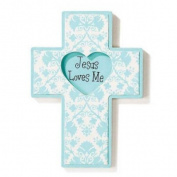 Baby Blessings Wall Cross - Jesus Loves Me - Boy