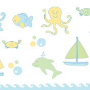 Ubbi Nappy Pail Decals - Underwater