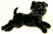 Vintage BLACK POODLE PUPPY Dog Wall Decoration 22.9cm Wide