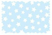 SheetWorld Stars Pastel Blue Woven Fabric - By The Yard