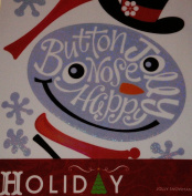 Holiday Adhesive Vinyl Wall Decor, Jolly Snowman, 2 Sheets