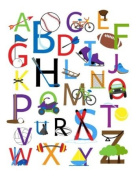 Alphabet Sports Nursery Wall Art