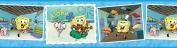 Brewster 147B02105 Nickelodeon Sponge Bob Post Card Wall Border